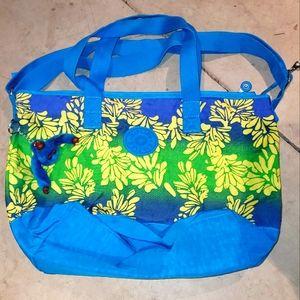 KIPLING Large Size Floral Ombre Weekender Bag Tote